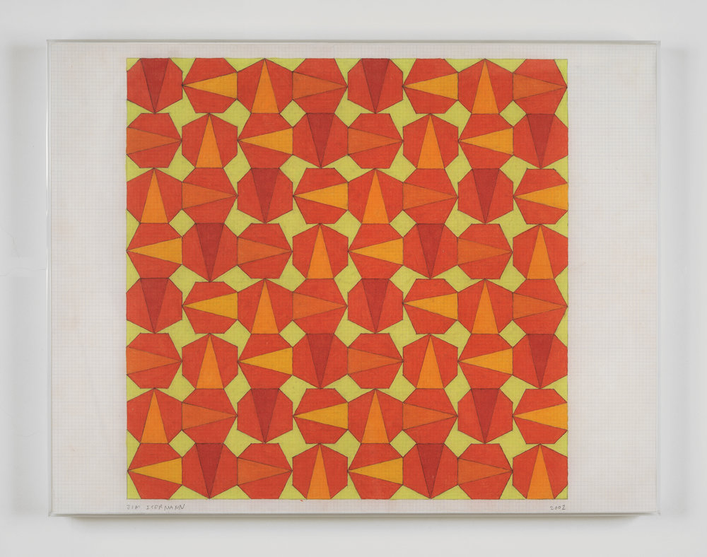 Untitled, 2002 colored pencil on grid paper 43,2 x 56 cm - 17 x 22 inches