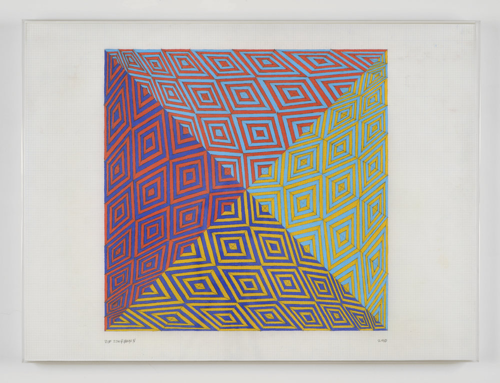 Untitled, 2010 colored pencil on grid paper 45,7 x 61 cm - 18 x 24 inches
