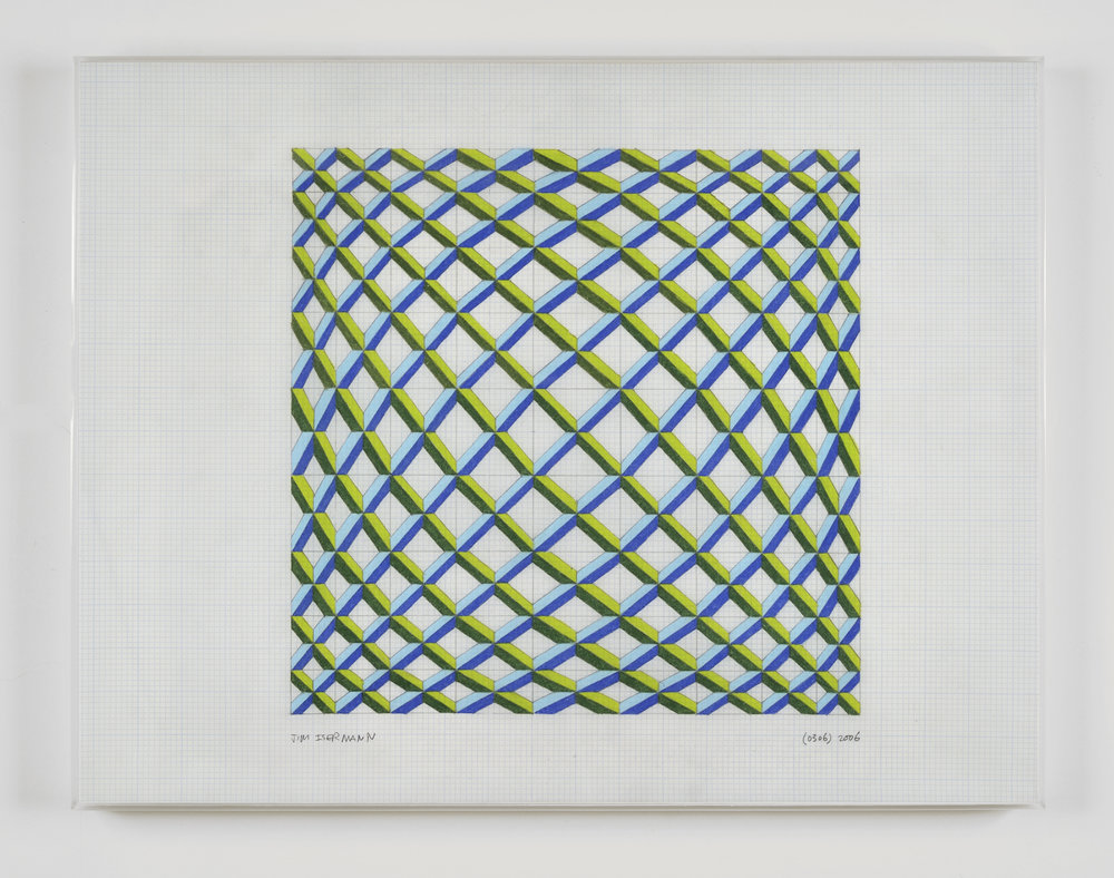 Untitled (0306), 2006 colored pencil on grid paper 43,2 x 56 cm - 17 x 22 inches