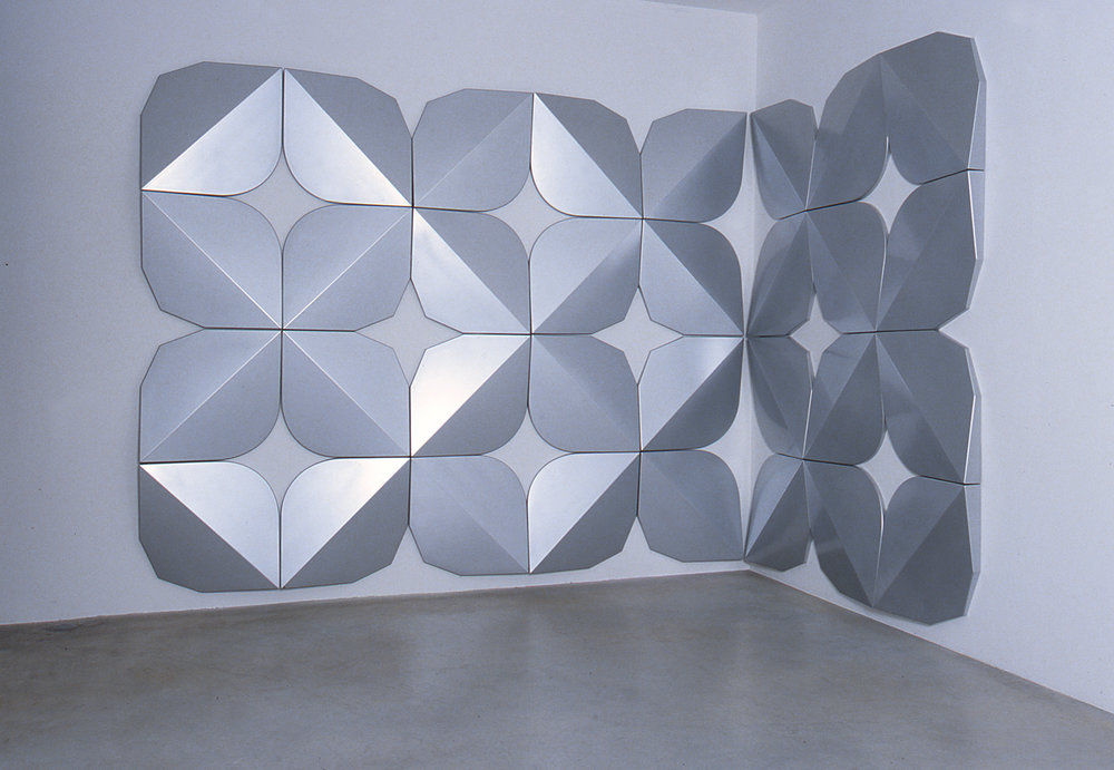 Untitled (0101) (silver), 2001 paint/vacuum-formed ABS 244 x 490 cm - 96 1/8 x 192 7/8 inches
