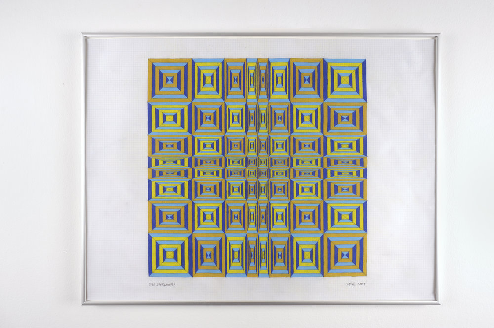Untitled (0509), 2009 colored pencil on grid paper 47,5 x 62,7 cm - 18 3/4 x 24 5/8 inches