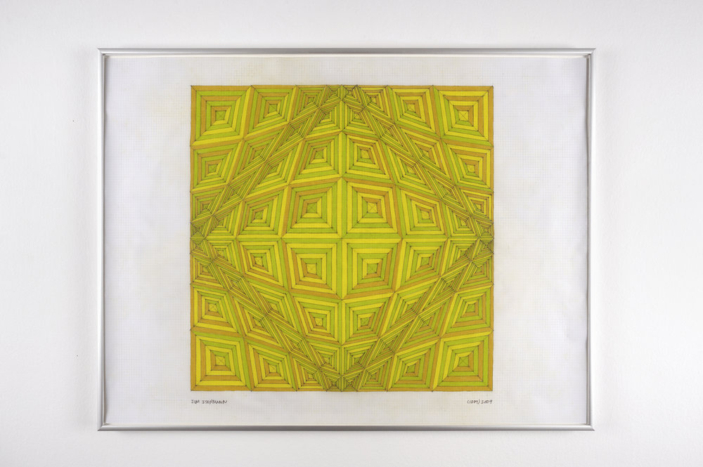 Untitled (1009), 2009 colored pencil on grid paper 47,5 x 62,7 cm - 18 3/4 x 24 5/8 inches