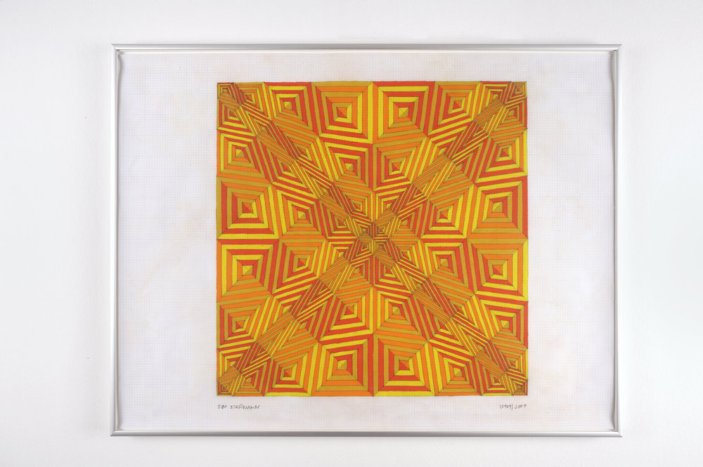 Untitled (0909), 2009 colored pencil on grid paper 47,5 x 62,7 cm - 18 3/4 x 24 5/8 inches