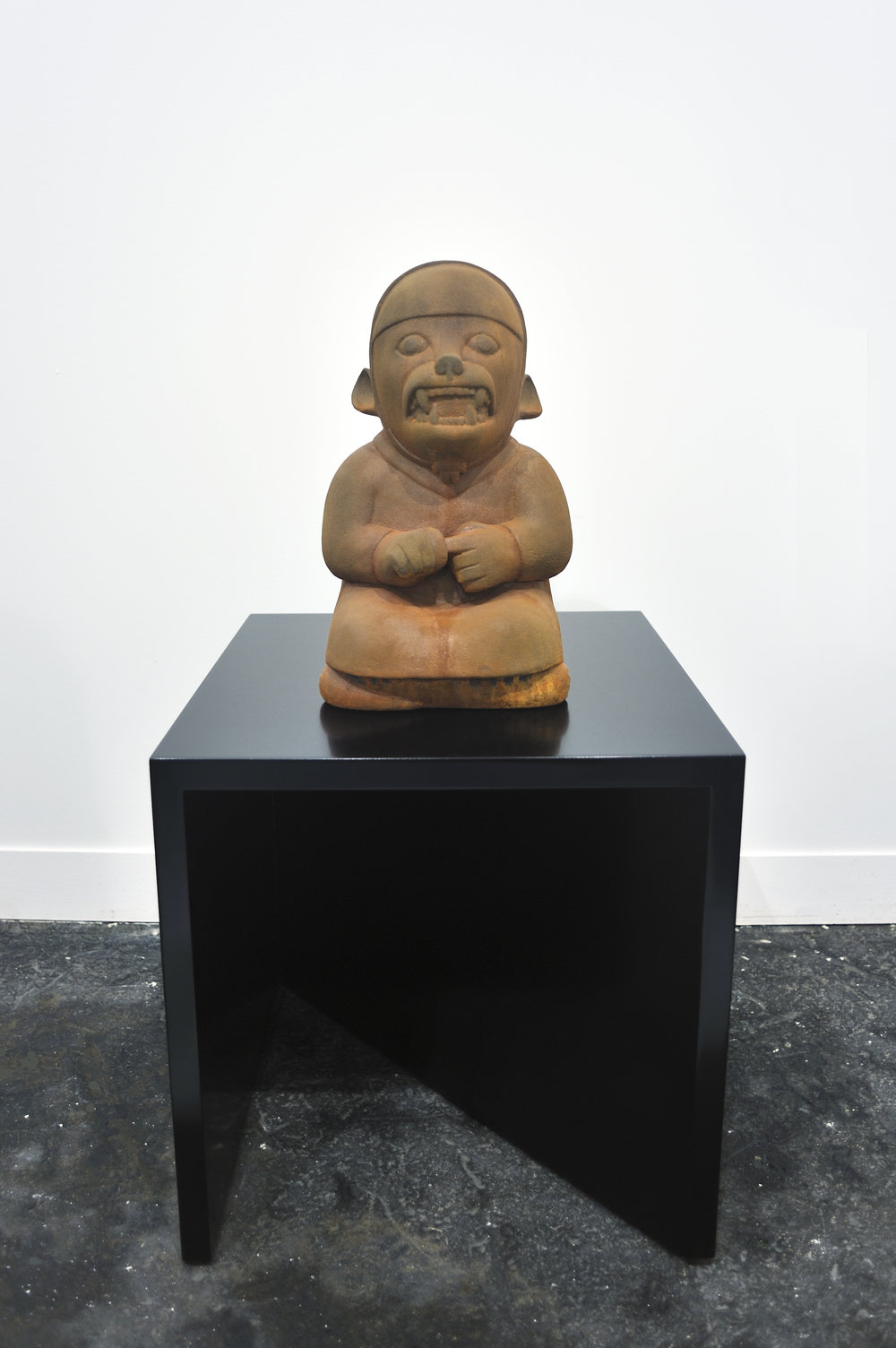 It Is What It Is (The Old-In-and-Out), 2009 terracotta, wood, paint 89 x 45,7 x 45,7 cm - 35 x 18 x 18 inches