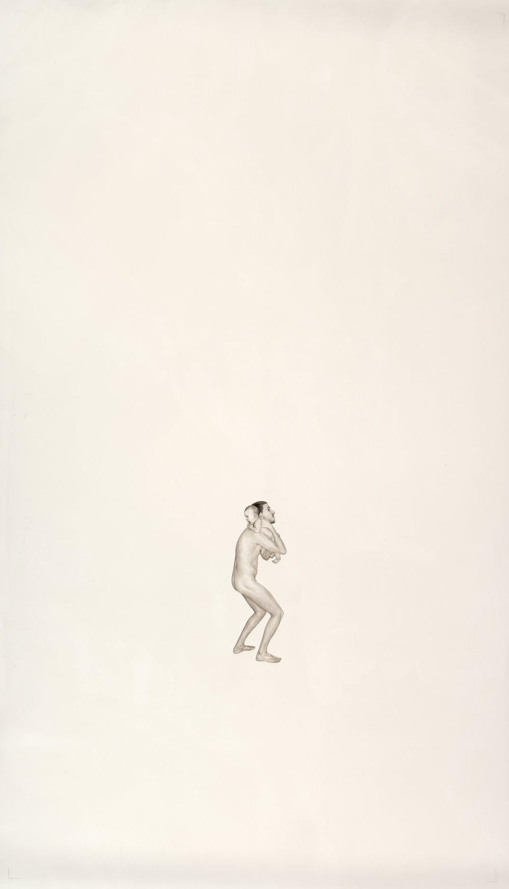 Elle et moi, 2012 inks and watercolor on paper 160 x 90 cm - 63 x 35 3/8 inches
