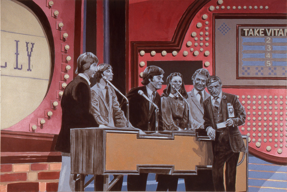 Family Feud, 1995 acrylic on canvas 137,2 x 203,2 cm - 54 x 80 inches