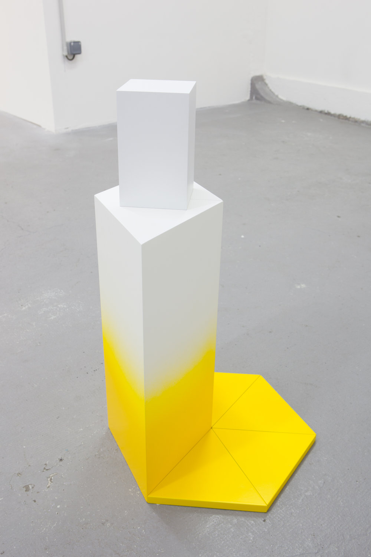 Atlas (dégradé), 2015 alkyd lacquer, MDF, acrylic paint 45 x 45 x 80 cm - 17 3/4 x 17 3/4 x 31 1/2 inches