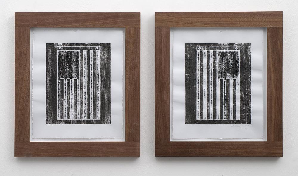 Stripes, 2008 woodcut prints 32 x 26,5 cm - 12 1/2 x 10 3/8 inches (each)