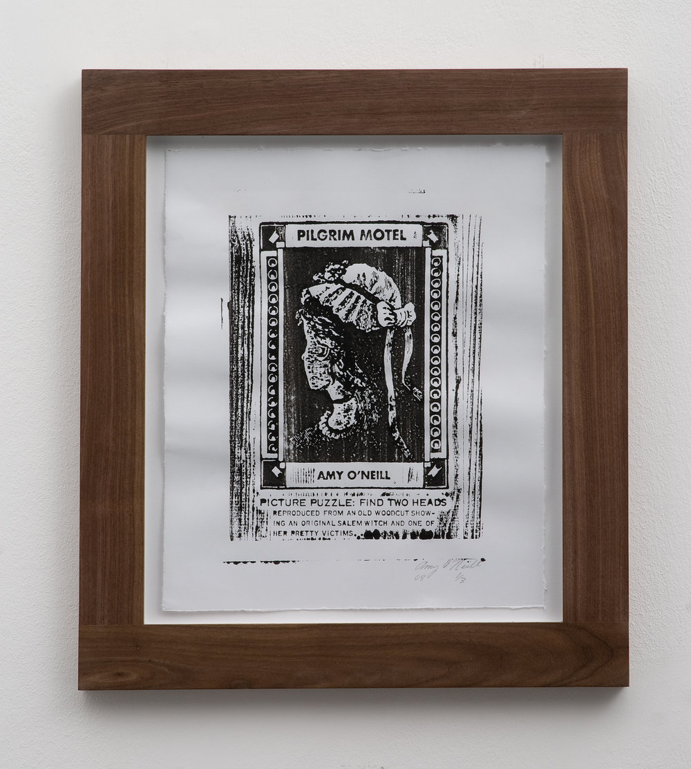 Salem Witch/Pretty Victim, 2008 woodcut print 32 x 26,5 cm - 12 1/2 x 10 3/8 inches