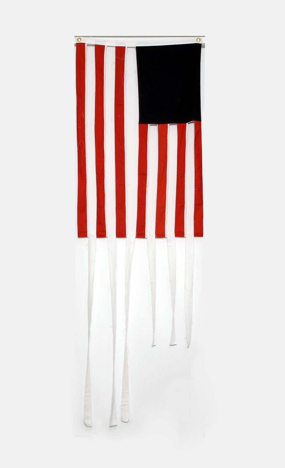 White Stripes, 2008 cotton canvas 152 x 91 cm - 59 7/8 x 35 7/8 inches
