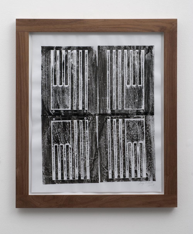 Stripes, 2008 woodcut print 54 x 44,5 cm - 21 1/4 x 17 1/2 inches