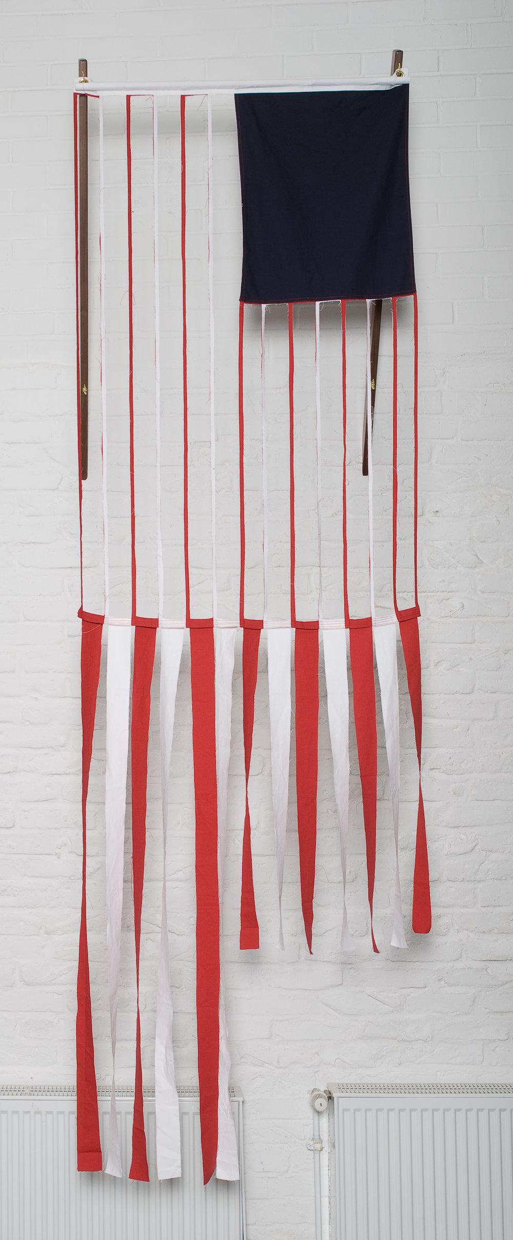 Red/White Stripes, 2008 cotton canvas 152 x 91 cm - 59 7/8 x 35 7/8 inches