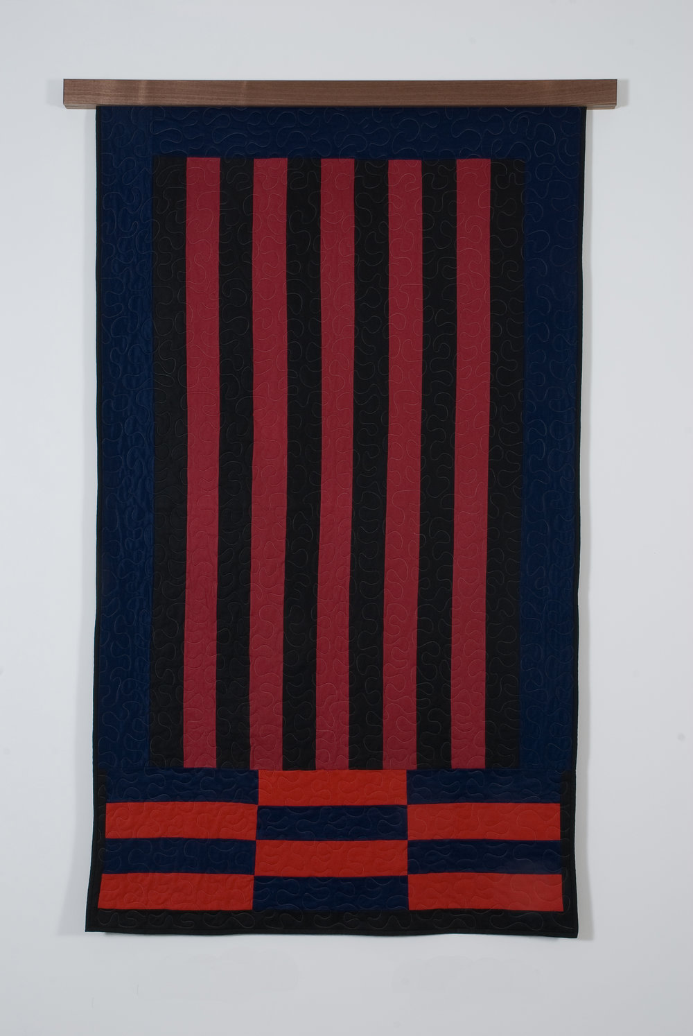 Bricks and Bars II, 2008 felted wool and cotton 207 x 122 cm - 81 1/2 x 48 inches
