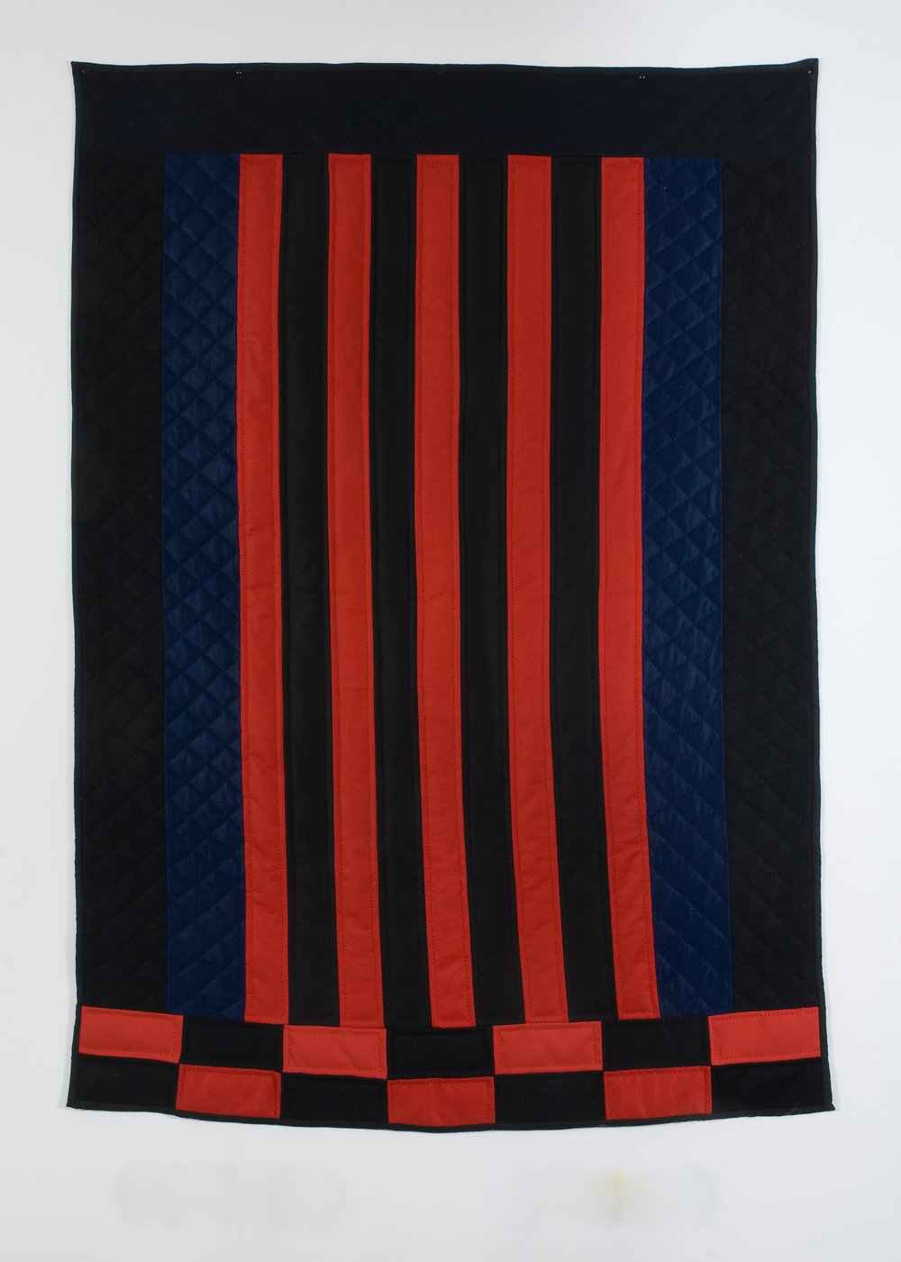Bricks and Bars III, 2008 felted wool and cotton 180 x 129 cm - 70 7/8 x 50 3/4 inches