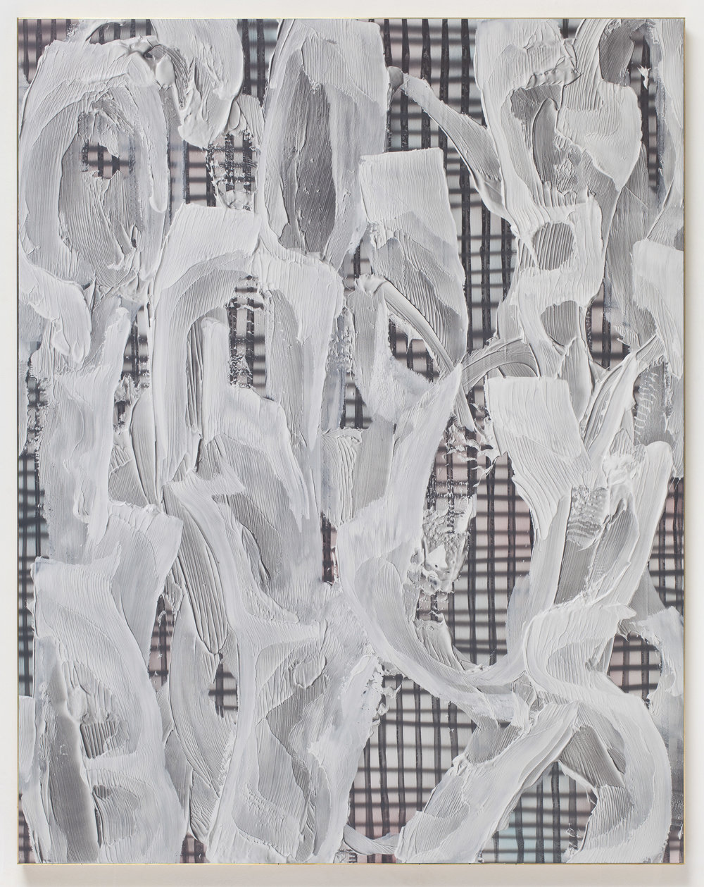 Dark Shadows Eric, 2015 acrylic on birch panel, brass frame 152,4 x 122 cm - 60 x 48 inches