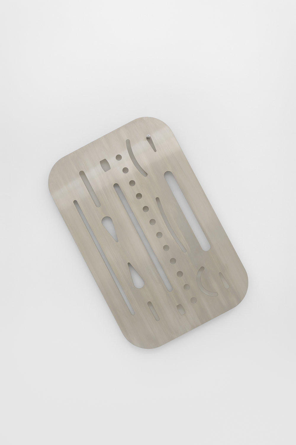 Eraser Shield, 2015 stainless steel edition of 2 101,5 x 65,5 x 0,3 cm - 40 x 25 3/4 x 0 1/8 inches