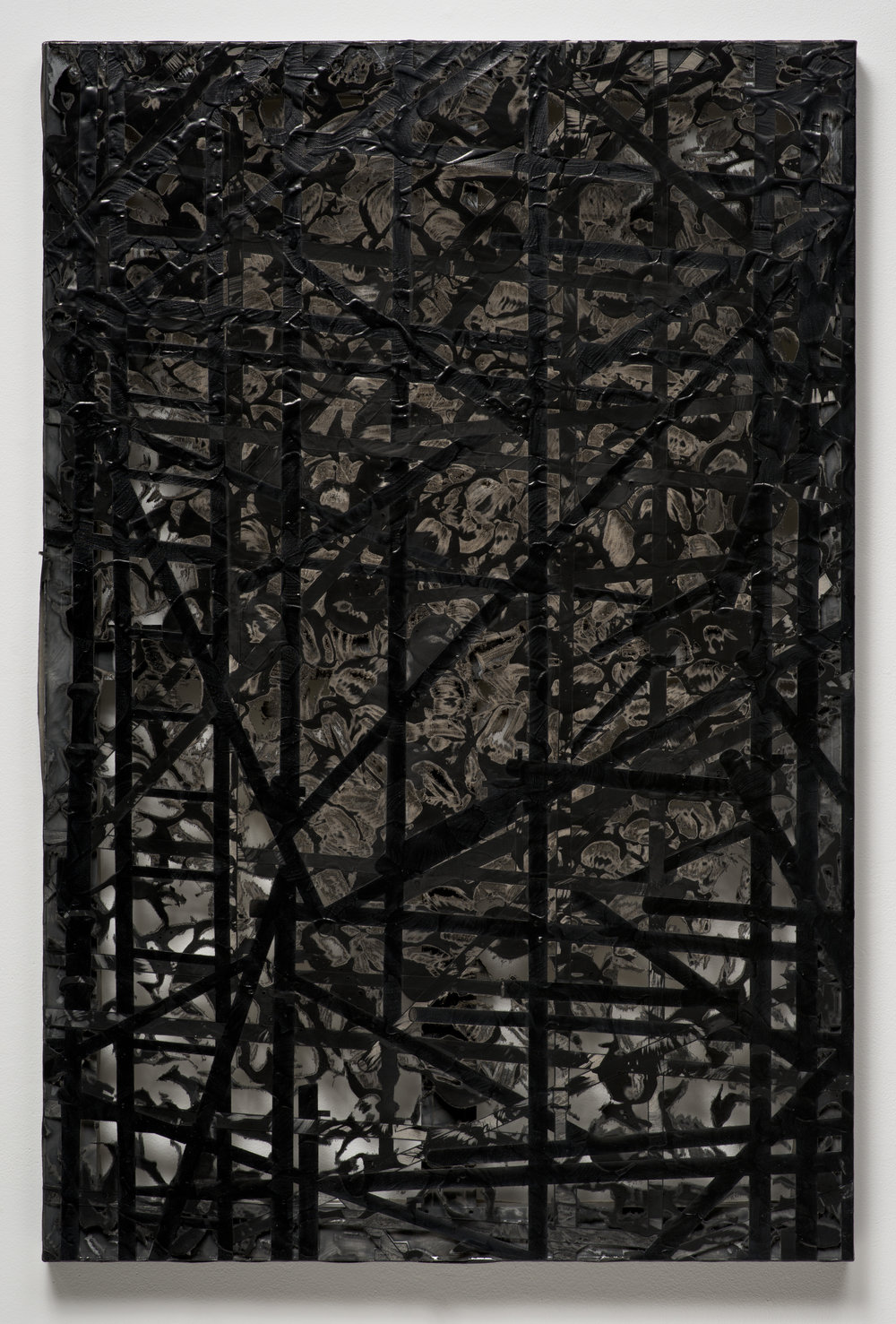 Erosion (Scaffolding), 2012 laser sculpted acrylic paint on canvas 117,5 x 78 x 6,4 cm - 46 1/4 x 30 3/4 x 2 1/2 inches