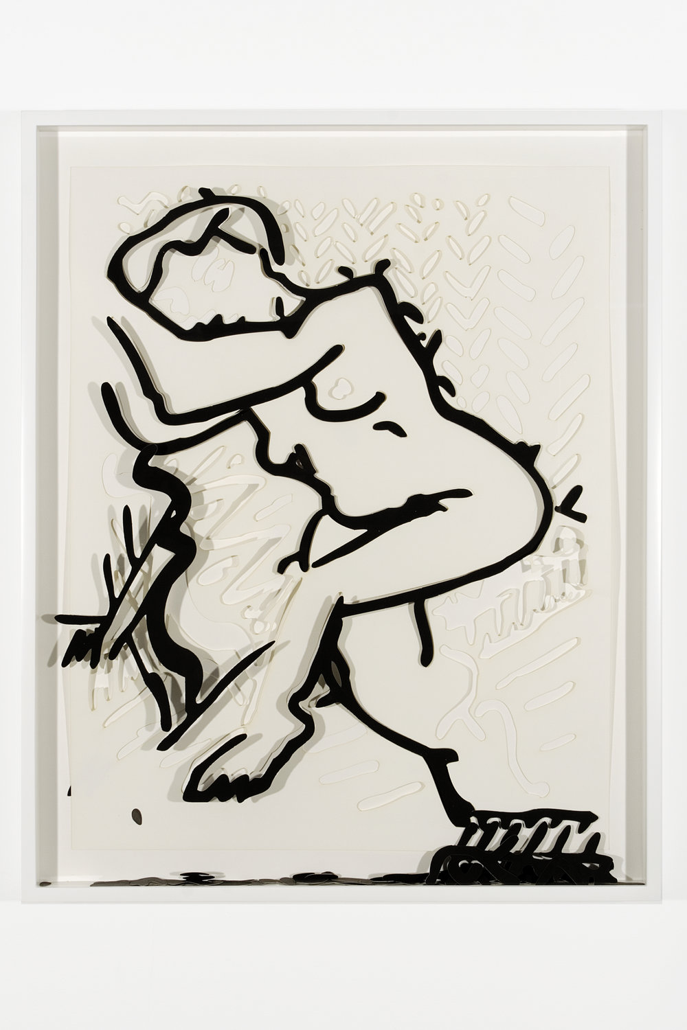 """Collapsed Drawing: """"Unknown Title"""" (Henri Matisse), 2007 laser-cut paper and laser-cut archival digital print mounted on museum board 81 x 65,6 cm - 31 3/4 x 25 7/8 inches (framed)"""