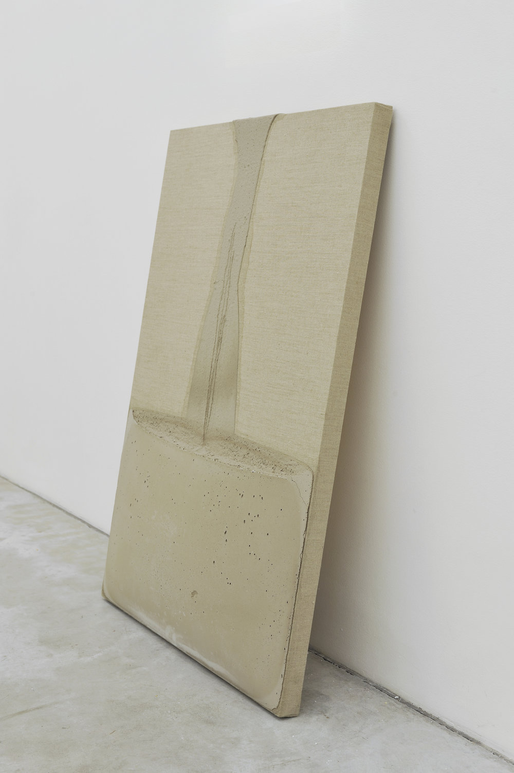 Decant (from Floor) #2, 2011 concrete on canvas 102,2 x 71 x 6,3 cm - 40 1/4 x 28 x 2 1/2 inches