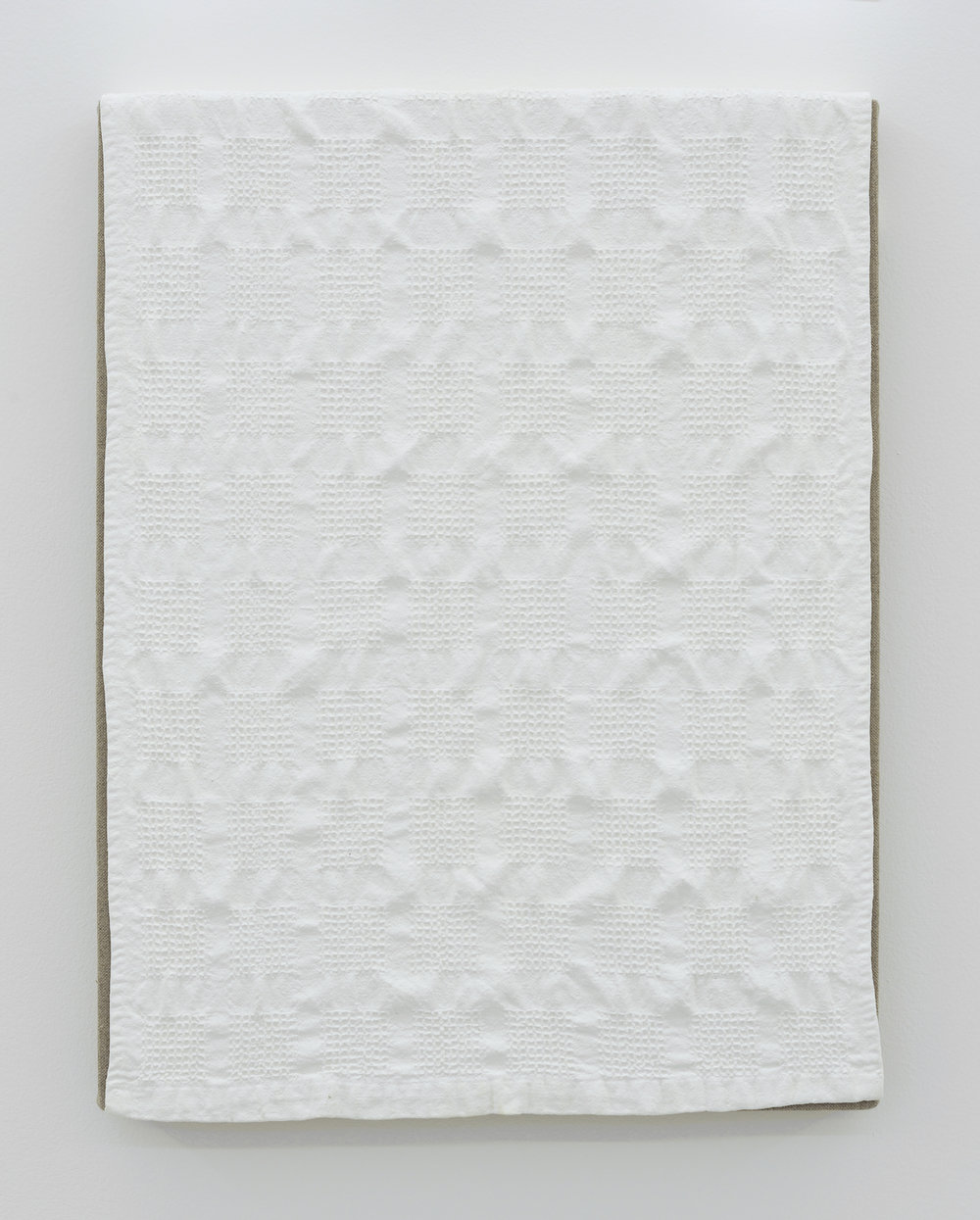 Dish Towel, 2011 acrylic on canvas 46 x 35,5 x 4 cm - 18 1/8 x 14 x 1 5/8 inches
