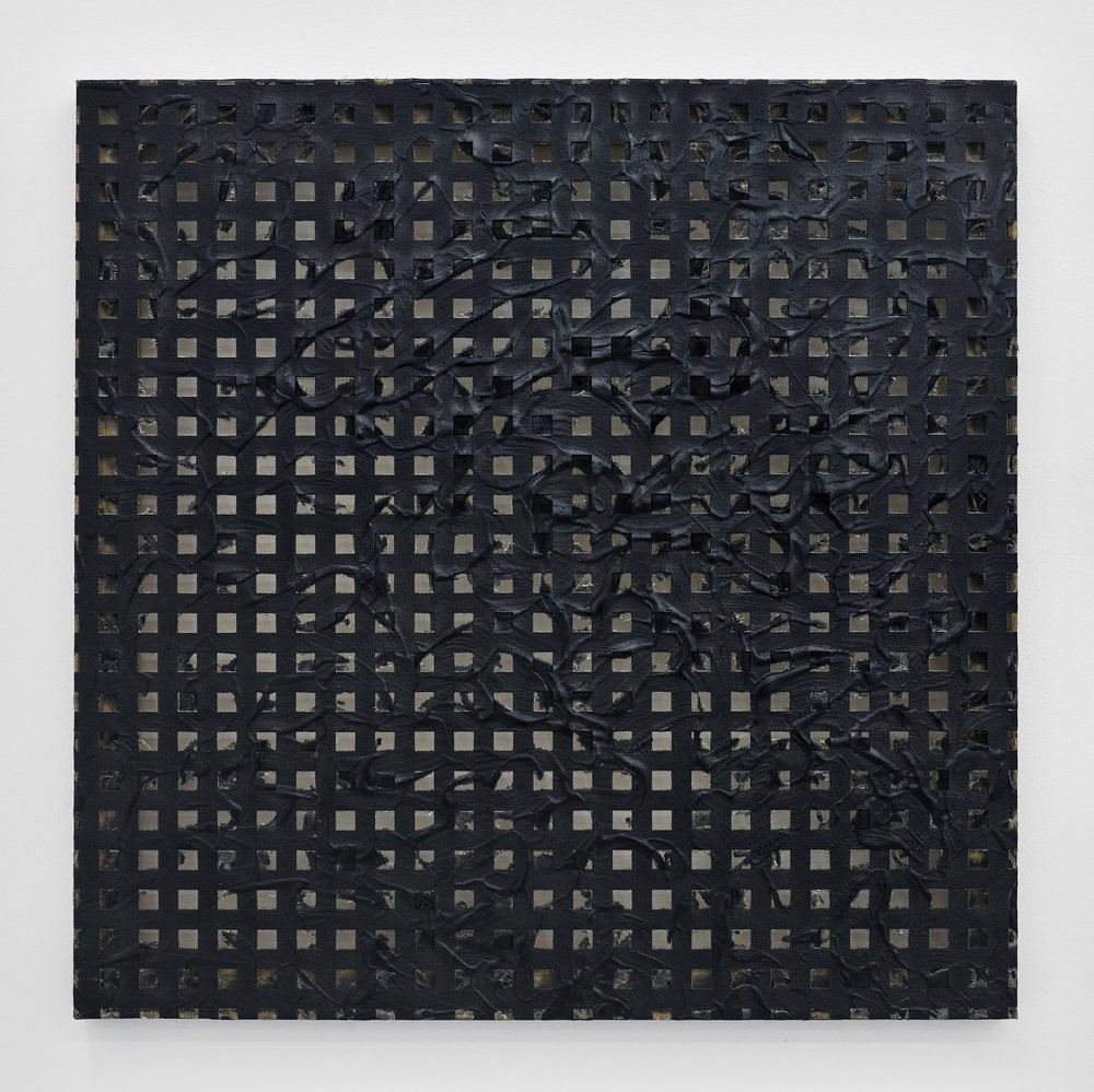 Erosion (Grid) #2, 2011 laser-carved acrylic on canvas 61 x 61 x 4 cm - 24 x 24 x 1 1/2 inches