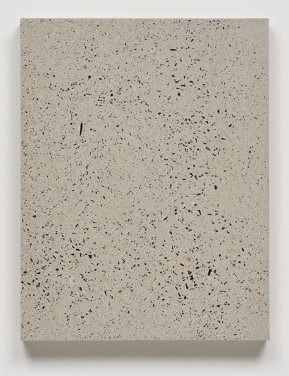 Big Bang Series (in Ten Steps), 2014 concrete and marble on canvas. slab 1/10 66 x 51 x 6,4 cm - 26 x 20 x 2 1/2 inches (each)