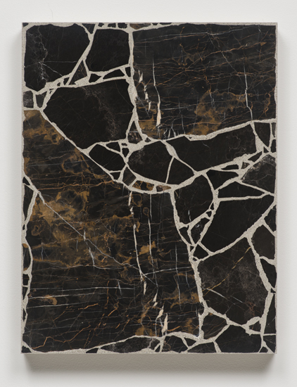 Big Bang Series (in Ten Steps), 2014 concrete and marble on canvas. slab 9/10 66 x 51 x 6,4 cm - 26 x 20 x 2 1/2 inches (each)