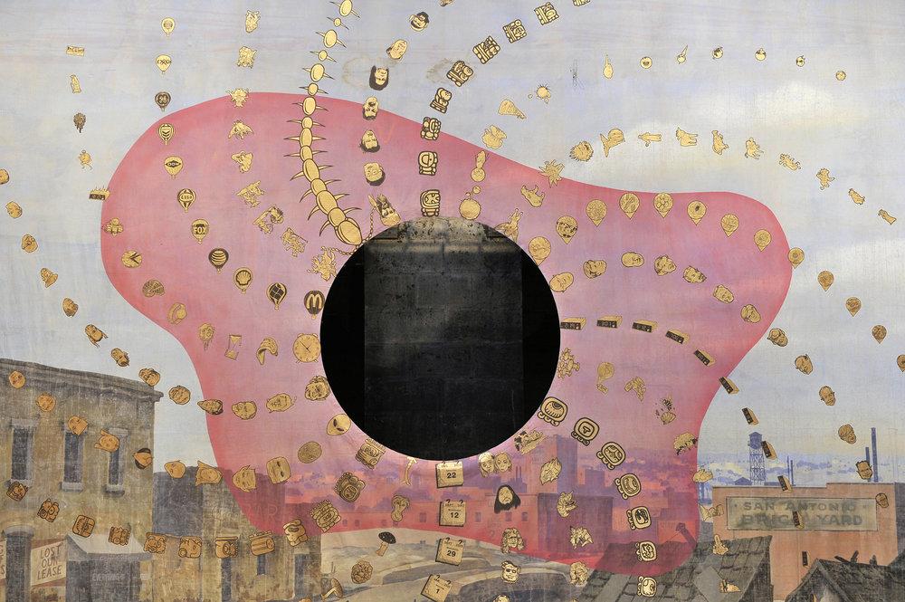 Montezuma's Revenge, 2007 acrylic on backdrop 520 x 1140 cm - 204 3/4 x 448 7/8 inches