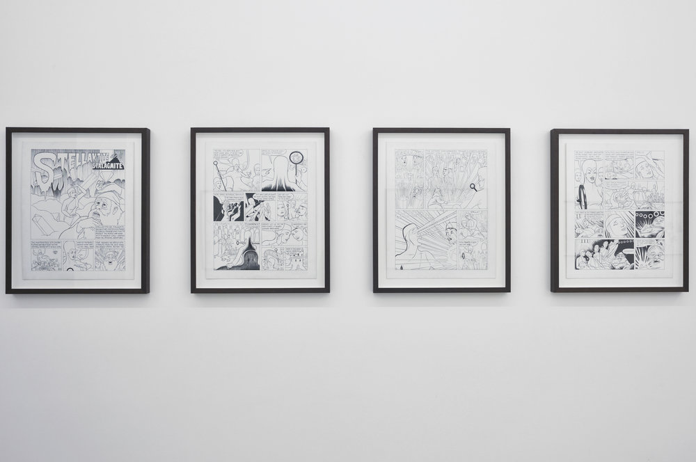 Stellaktite and Stellagmite, 2011 18 ink on board comic drawings 50,8 x 40,7 cm - 20 x 16 inches (each)