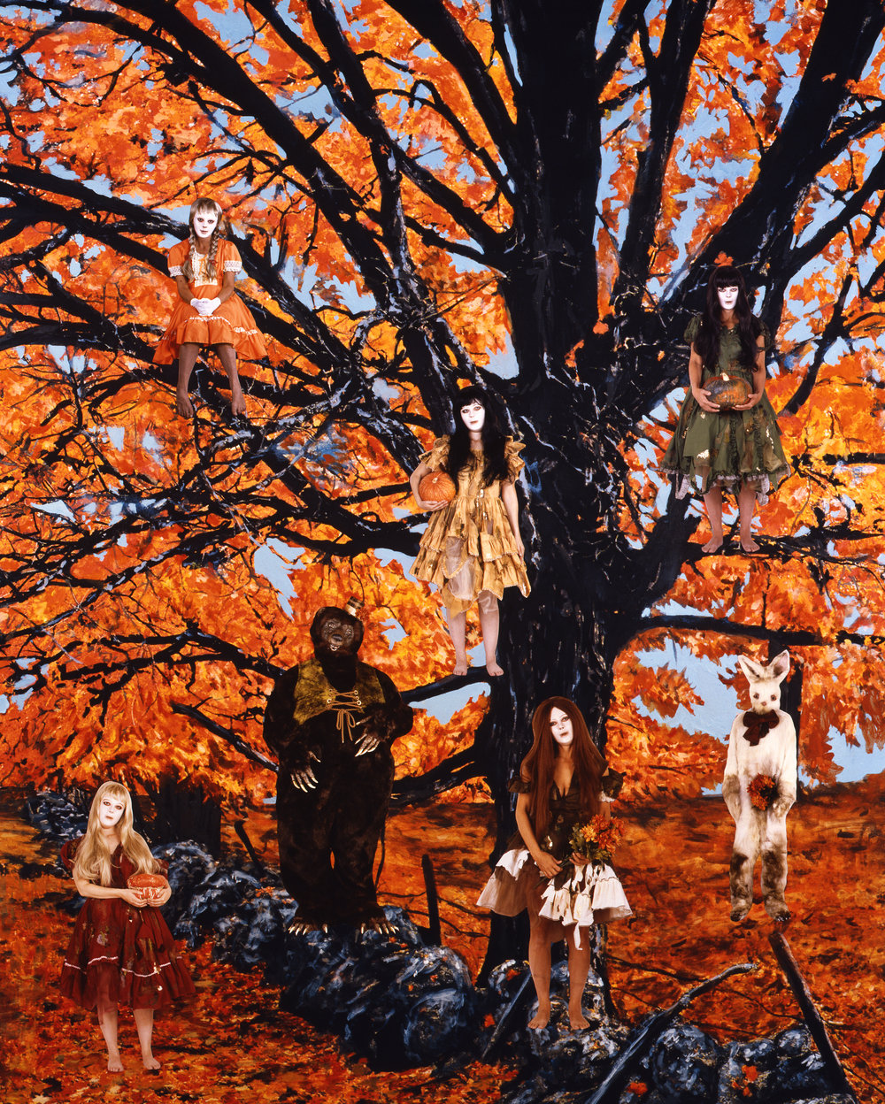 Harvest Tree, 2008 collage on photograph 155 x 125 cm - 61 1/32 x 49 7/32 inches (framed)