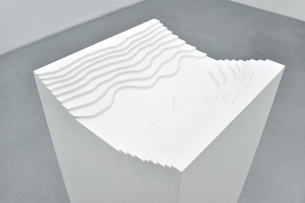 Valley #1, 2009 wooden pedestal 105 x 50 x 50 cm - 41 x 19 x 19 inches