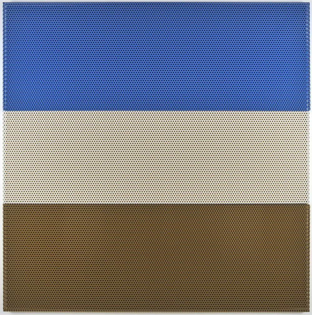 Untitled (Desert), 2009 aluminum powdercoated (3 parts), acrylic wall painting 200 x 200 cm - 78 3/4 x 78 3/4 inches