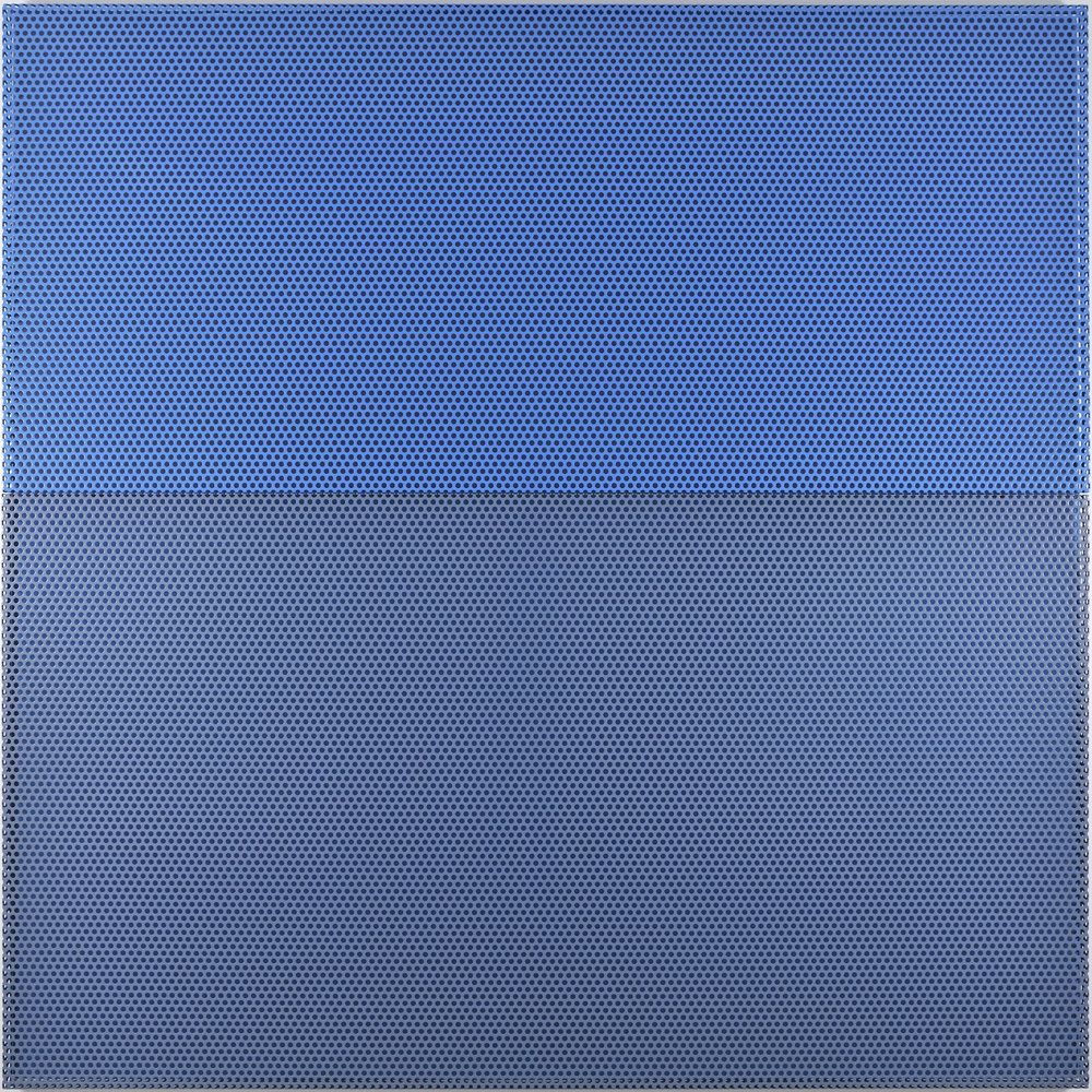 Untitled (Sea), 2009 aluminum powdercoated (2 parts), acrylic wall painting 200 x 200 cm - 78 3/4 x 78 3/4 inches