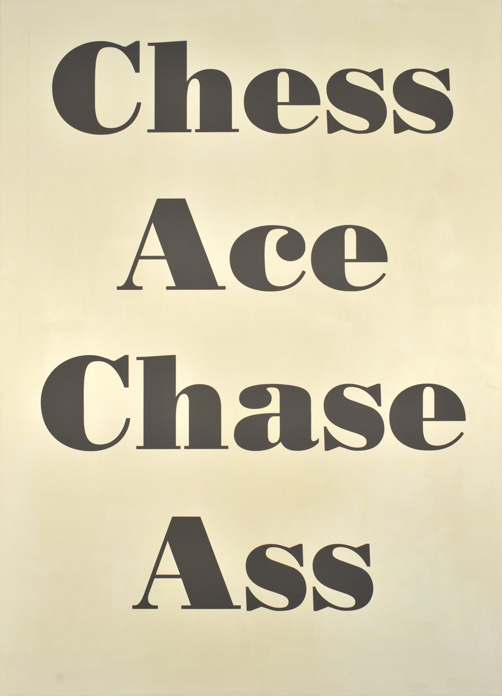 Chess Ace, 2009 acrylic on aluminum 140 x 100 cm - 55 1/8 x 39 3/8 inches