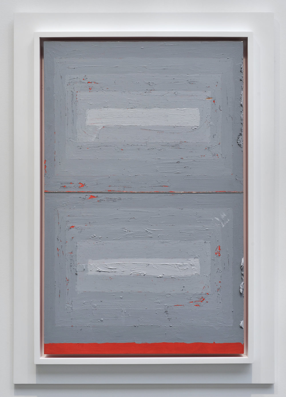Julian Hoeber, Execution Changes #64 (HS, Q1, CJ, LC, Q2, CJ, LC), 2012 acrylic and string on panel 122,7 x 84,6 cm - 48 1/4 x 33 1/4 inches (framed)