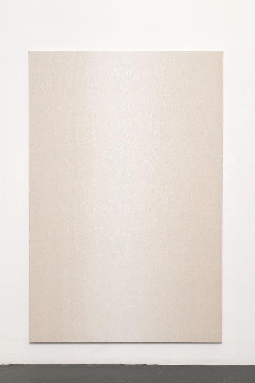 Camila Oliveira Fairclough, Creamy, 2014 tinted linen 194,5 x 129,5 x 2,5 cm - 76 5/8 x 51 x 1 inches