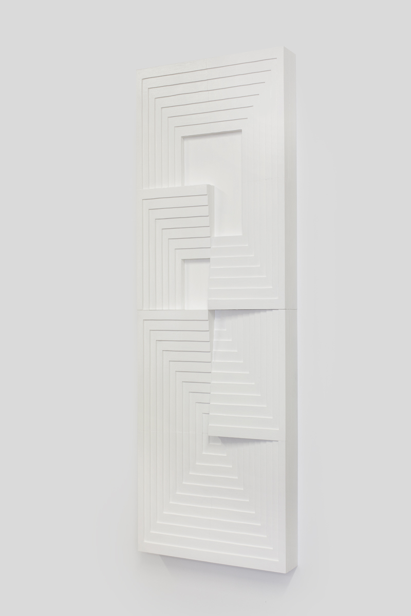 Julian Hoeber, Construction #27, 2014 plywood and latex enamel 183 x 61 x 11 cm - 72 x 24 x 4 3/8 inches