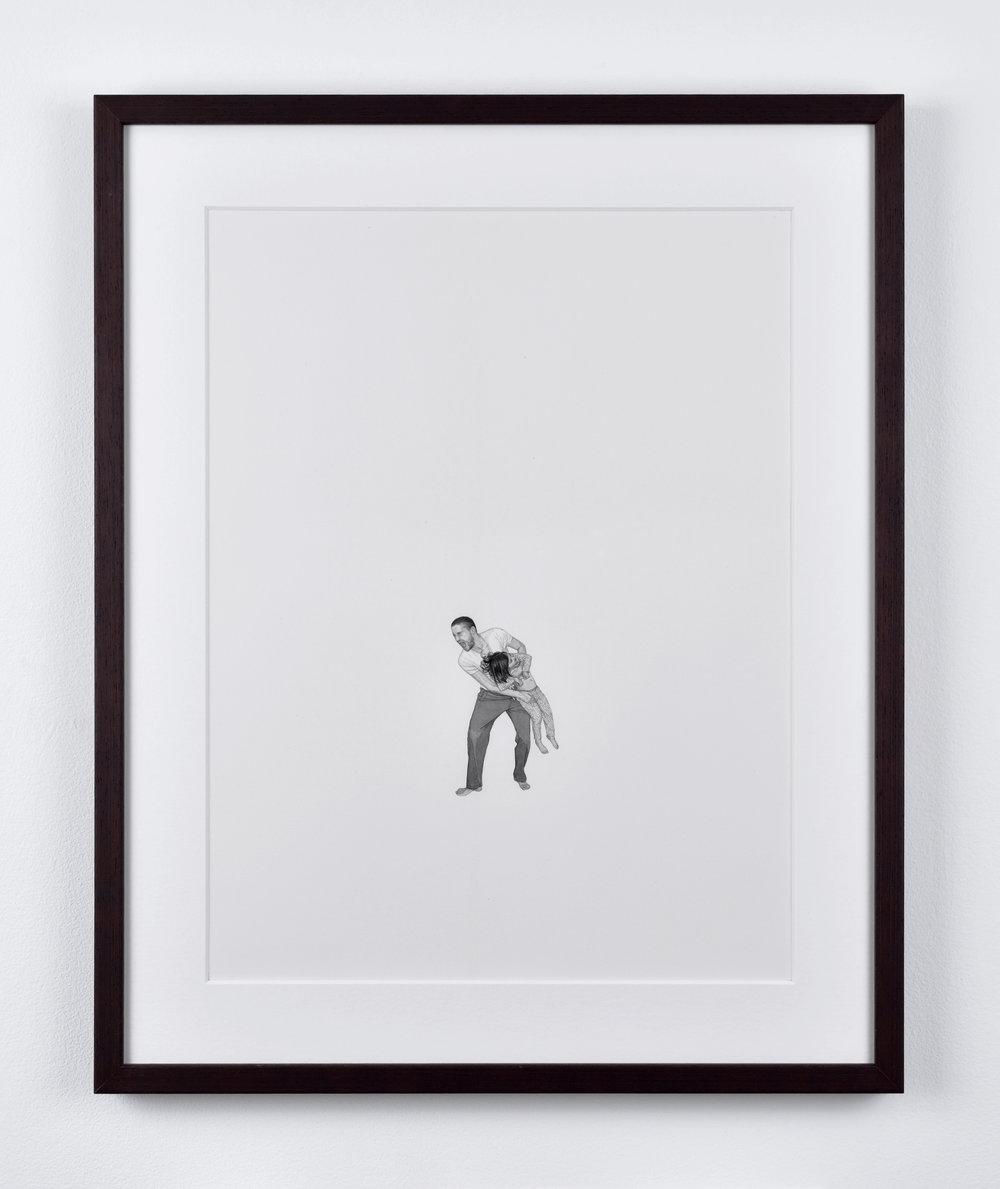 Fabien Mérelle, Je te protège, 2015 ink on paper 42 x 33 cm - 16 1/2 x 12 7/8 inches