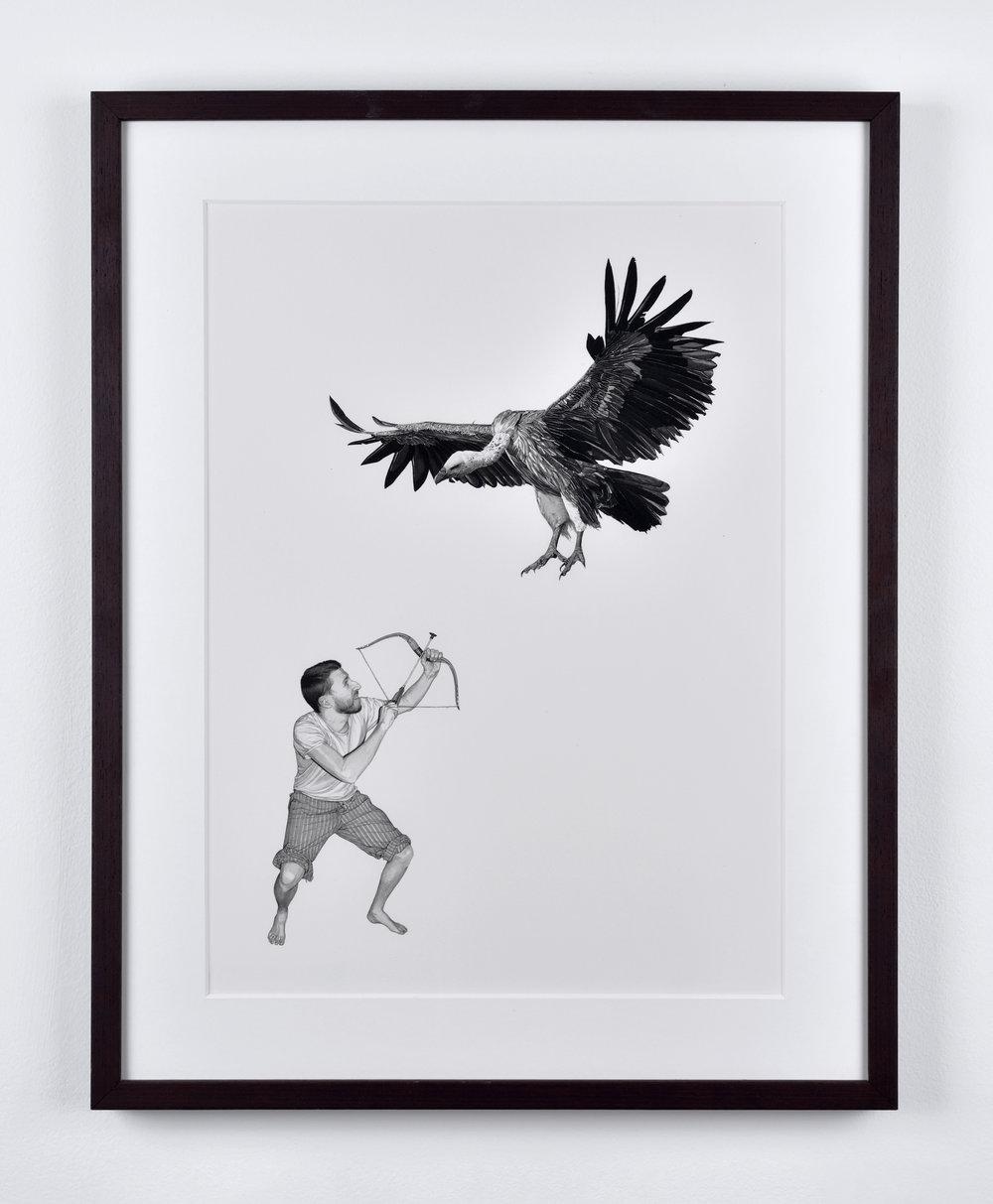 Fabien Mérelle, Vautour, 2015 ink on paper 46,5 x 36,5 cm - 18 1/4 x 14 3/8 inches