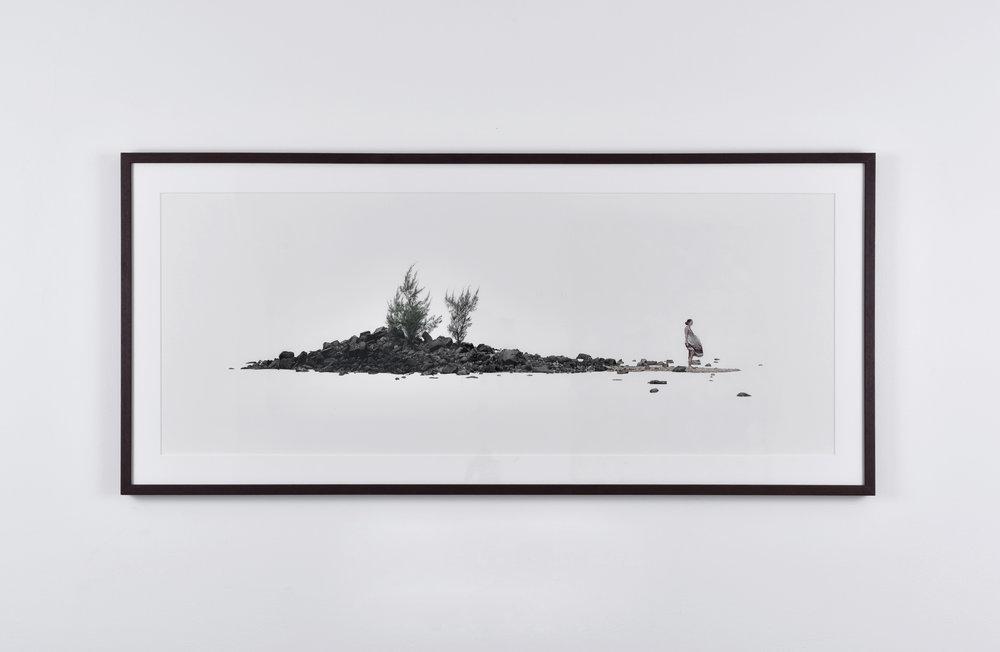 Fabien Mérelle, Son île, 2015 ink on paper 40 x 101 cm - 15 3/4 x 39 3/4 inches