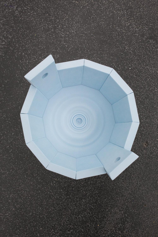 Antoine Espinasseau, Architecture simple, l'abri #2, 2016 polyurethane foam diam. 27 cm - 10 5/8 inches