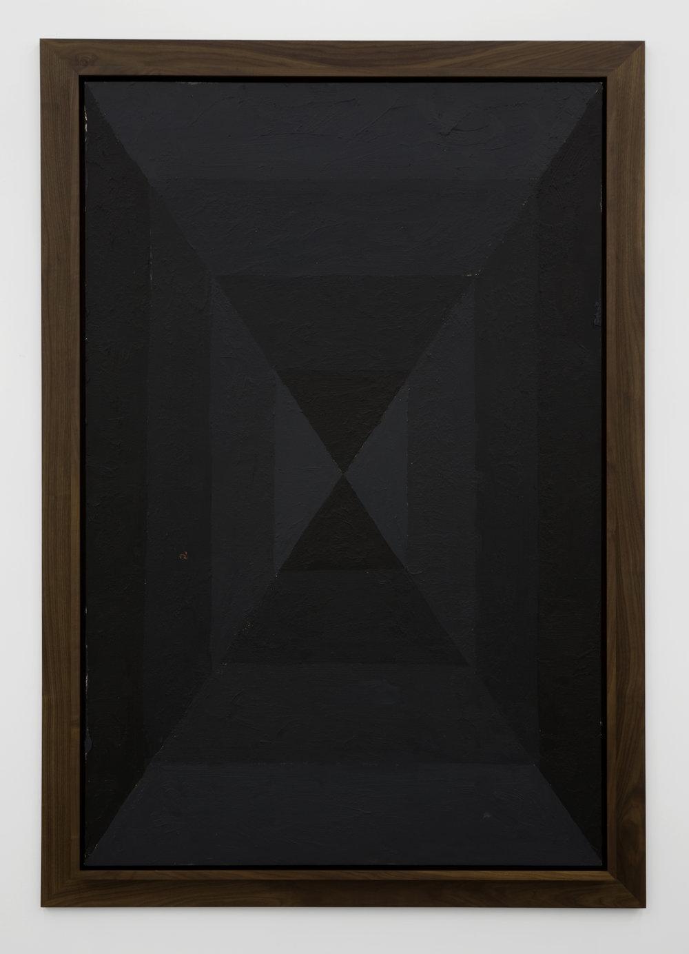 Julian Hoeber, Execution Changes #46 (XS, Q1, LMJ, DC, Q2, RMJ, LC, Q3, UMJ, DC, Q4, LMJ, LC), 2012 acrylic on panel 193,5 x 135,5 cm - 76 1/8 x 53 3/8 inches