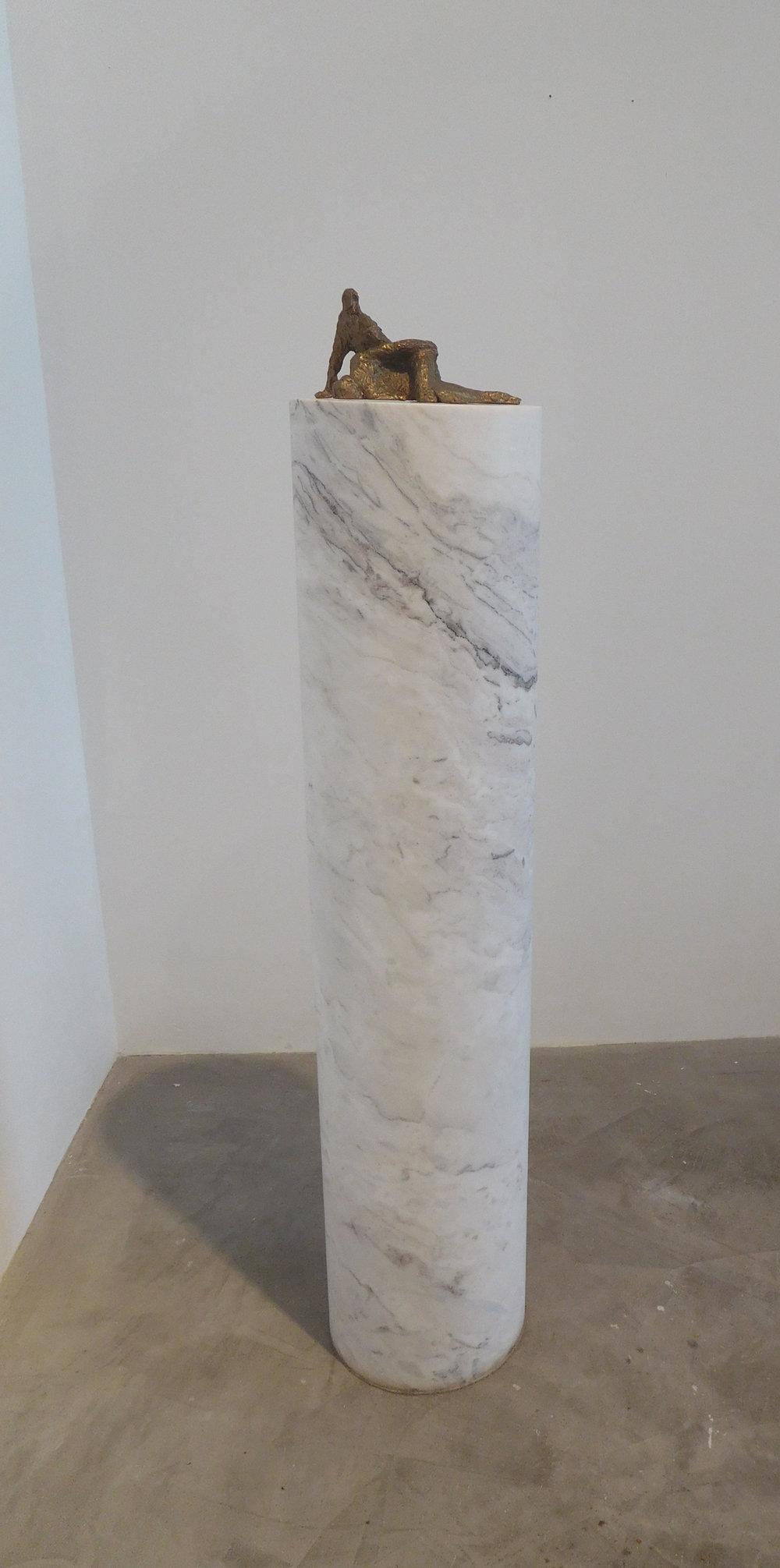 Kristian Burford, Couple Fucking, 2011 bronze on marble pedestal 117 x 25,5 cm - 46 1/8 x 10 inches
