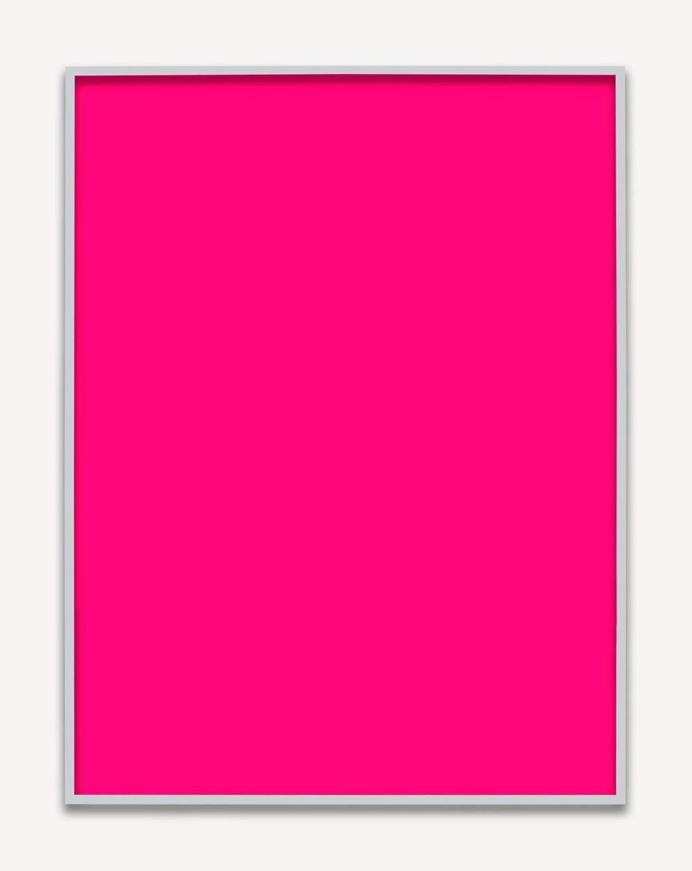 Phil Chang, Untitled (Magenta Monochrome), 2016 chromogenic print 152,5 x 122 cm - 60 x 48 inches