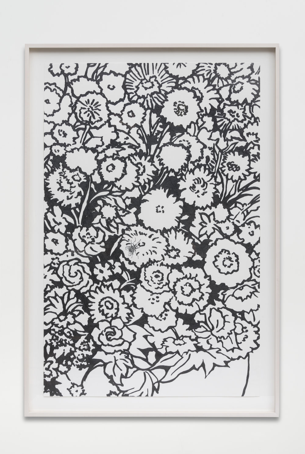 Nathan Mabry, Bouquet (For Edgar), 2017 graphite on paper 120,7 x 82,5 x 5 cm - 47 1/2 x 32 1/2 x 2 inches (framed)