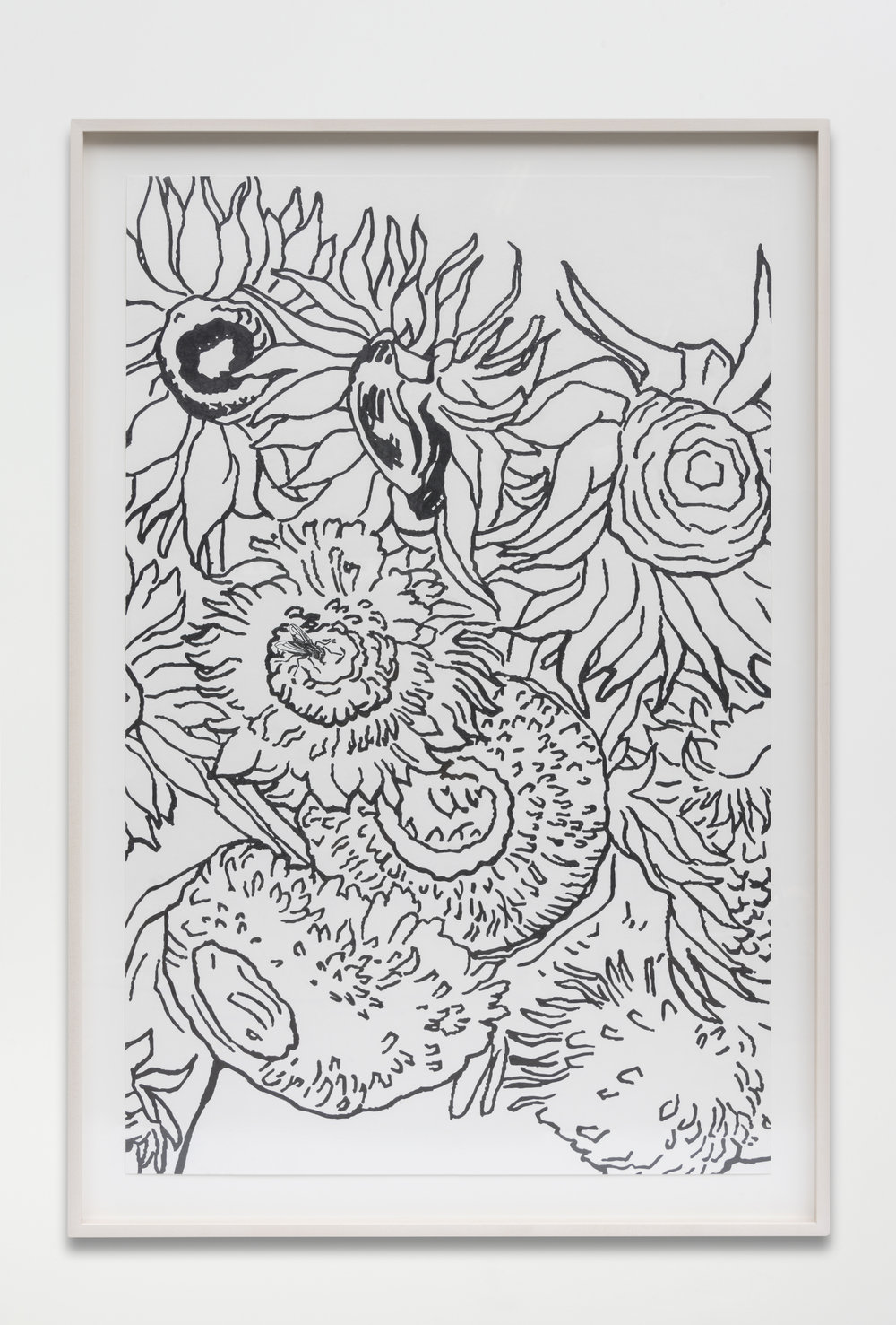 Nathan Mabry, Bouquet (For Vincent), 2017 graphite on paper 120,7 x 82,5 x 5 cm - 47 1/2 x 32 1/2 x 2 inches (framed)