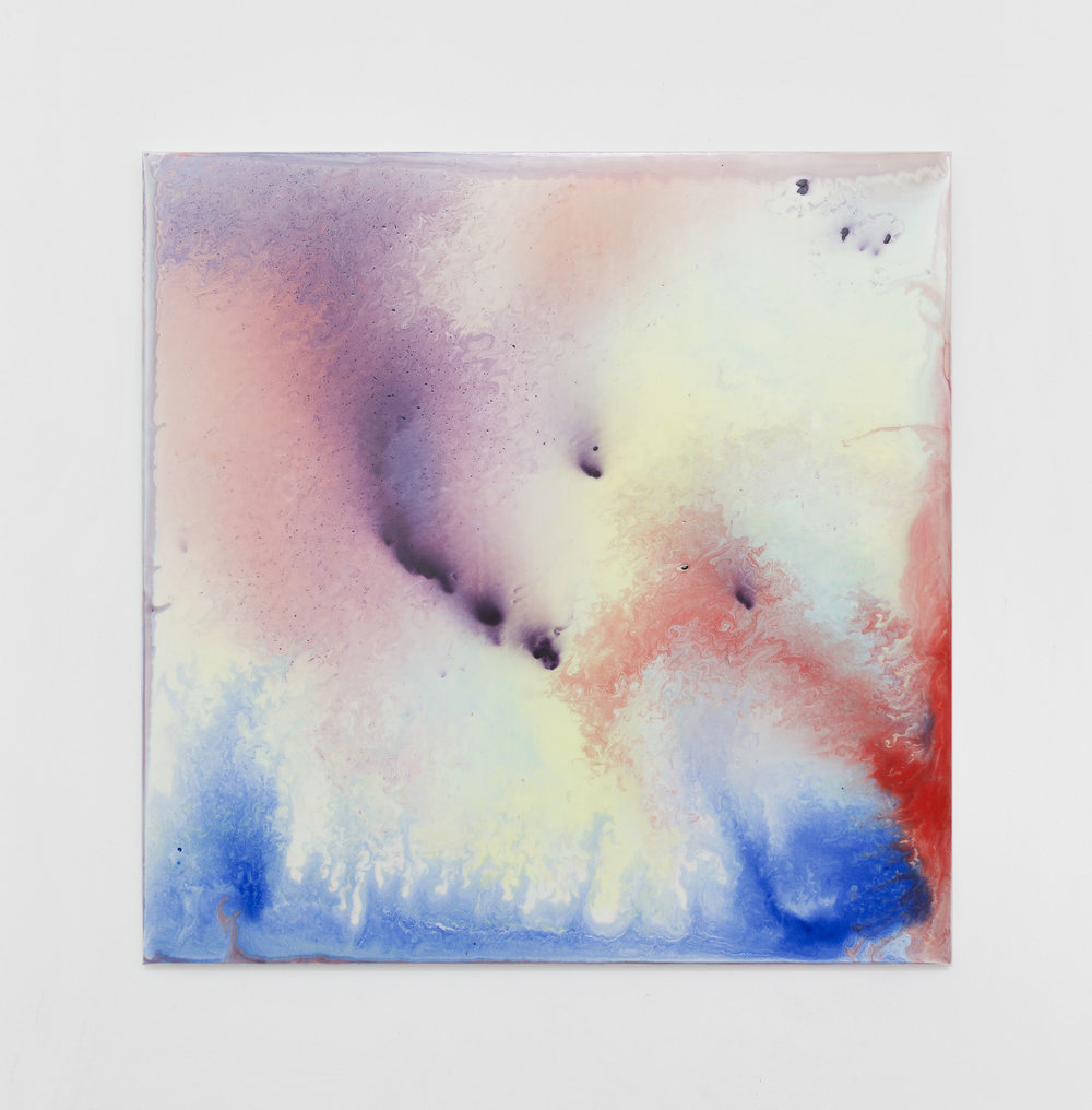 Bernard Frize, Bar, 2016 acrylic and resin on canvas 85 x 85 x 2 cm - 33 1/2 x 33 1/2 x 0 3/4 inches