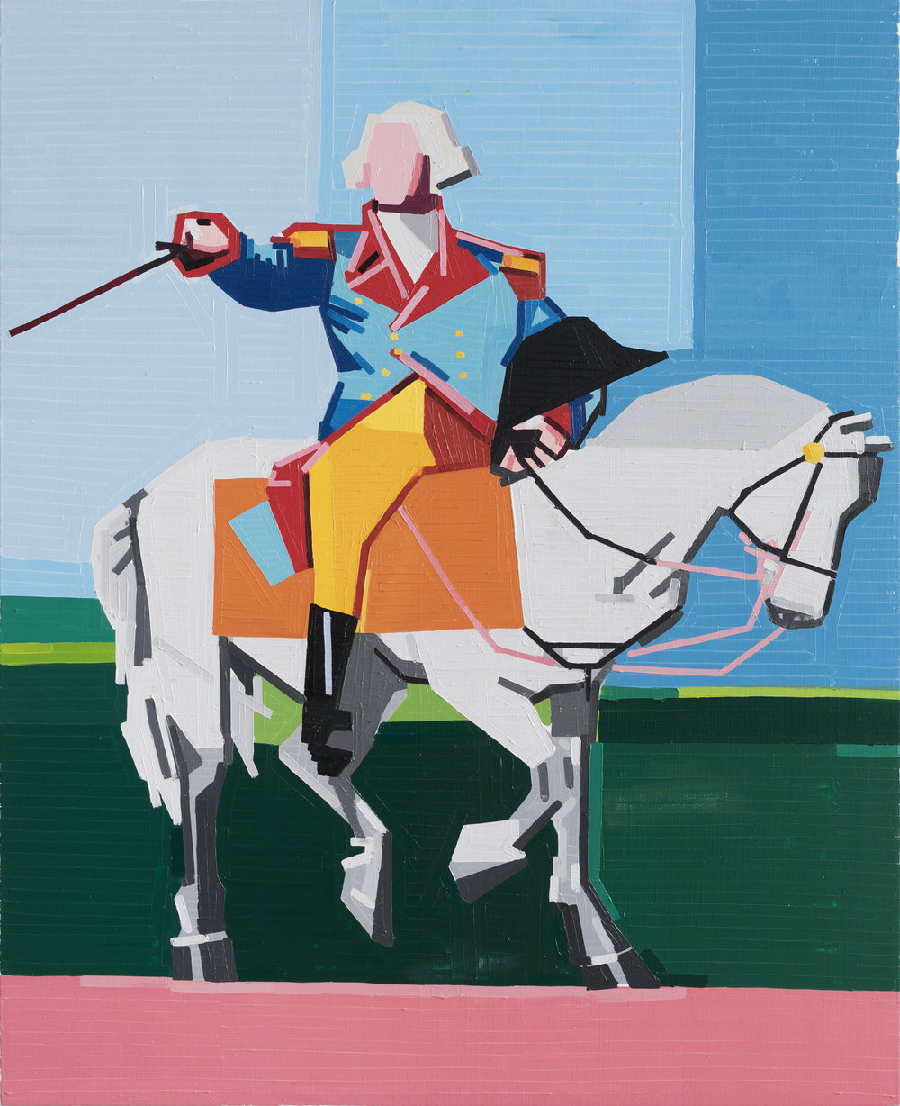 George Washington (Barbarian In The Garden), 2017 oil on linen 148 x 120 cm - 58 9/32 x 47 1/4 inches