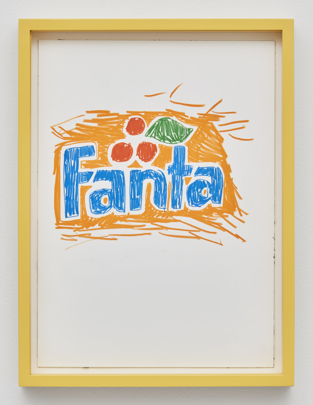 Fanta, 2017 colored pencil and ink on paper 40 x 30 cm - 15 3/4 x 11 13/16 inches (framed)