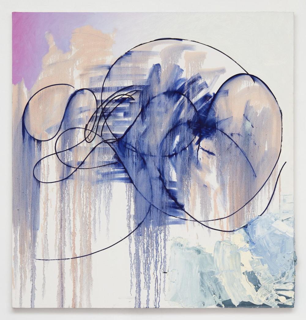 An intimate noise , 2017 oil on canvas 63 x 60 - 160 x 152,4 cm